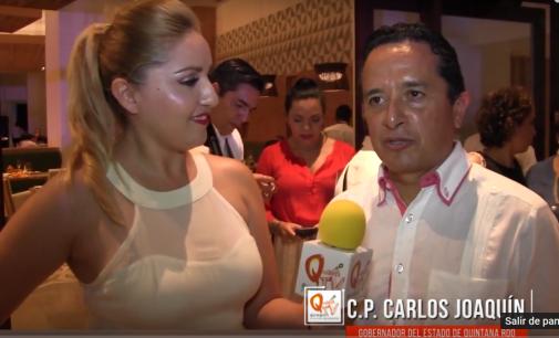 Entrevista al Gobernador en Dreams Playa Mujeres